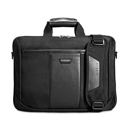 Everki Versa -  Premium Laptoptasche für Notebooks bis 16 Zoll (40,6 cm) mit patentiertem Ecken-Schutz-System, durchdachtem Fächer-Konzept und weiteren hochwertigen Funktionen, Schwarz -