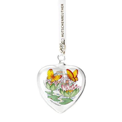 Hutschenreuther 02257-724142-49695 Glas-Herz 2014 Seerose, 6,5 cm im Geschenkkarton