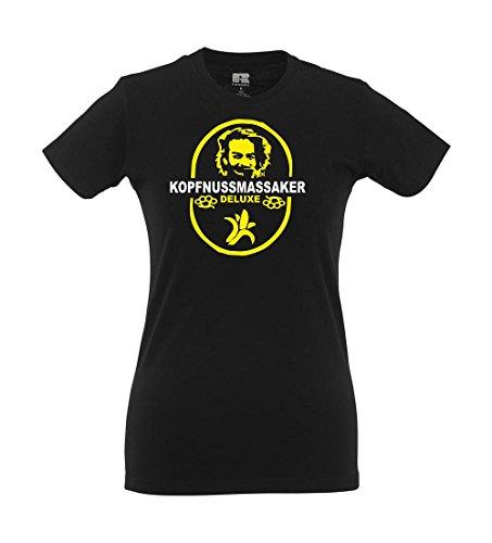 Girlie-Shirt - Kopfnussmassaker Schwarz