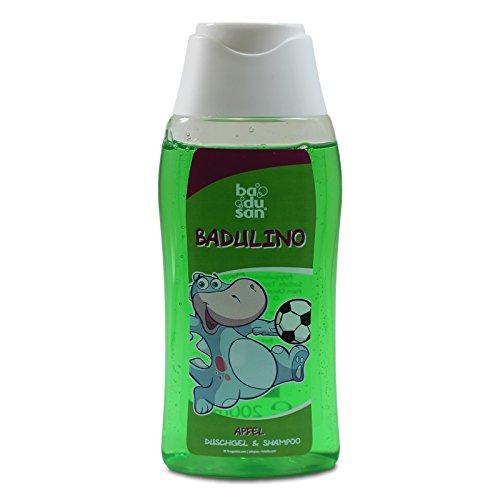 Badulino Kinder Duschgel & Shampoo Apfel Inhalt: 200 ml, Duschbad, Badespass, Badusan, Kinderduschgel