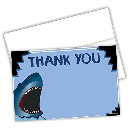 m&h invites Shark Geburtstag Thank You Karten (20Zählen)