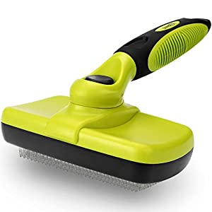 Pecute Slicker Dog Brushes,Self Cleaning Pet Grooming Brush- Removes 90% of Dead Undercoat and Loose Hairs,Suitable for Medium and Long Haired Dogs Cats 3