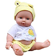 Vktech® Poupée Reborn Bébé Vinyle Souple En Silicone Réaliste Bébé Nouveau-né Pour Fille Cadeau