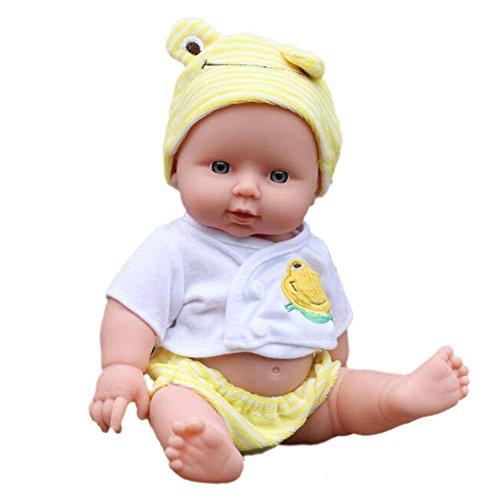Amazingdeal365 30cm Reborn Bebé Muñeca realista de Vinilo de Silicona Suave Niños pequeños Juguetes niñas