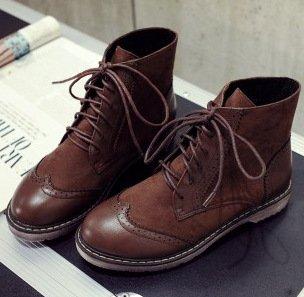 &ZHOU Bottes d'automne et d'hiver courtes bottes femmes adultes Martin bottes Chevalier bottes A28 yellow brown