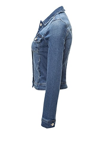 ONLY Damen Jeansjacke Übergangsjacke Leichte Jacke Denim Casual (XS, Medium Blue Denim - 2
