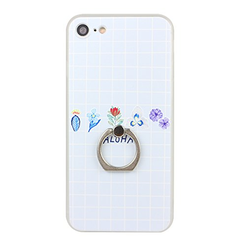 Etui iPhone 7 TPU, Coque iPhone 7 Case, Moon mood® 3D en Relief Peint Coque de Téléphone avec Anneau Support Protecteur d'écran TPU Étui Arrière Housse pour iPhone 7 4.7 pouce Téléphone Cellulaire Coq Style-4