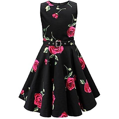 Black Butterfly Niñas 'Audrey' Vestido Vintage Años 50 Infinity