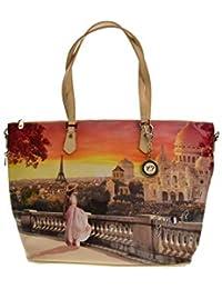 9a2e69f822c1 Y NOT  sac shopping femme avec bandoulière L-397 ...