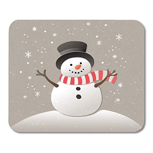 rotem Gesicht, Weihnachten, Schneemann und Schneeflocken, Neujahr, niedliches Grafik-Mauspad, 24,1 x 20,1 cm, für Notebooks, Desktop-Computer, Zubehör ()