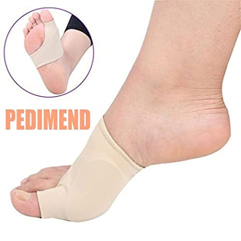 Pedimend™ Big Toe Foot Protector Support Sleeve   Bunion Pain Relief Cushion   Foot Gel Separator   Tailors Bunion Corrector Gel Pad   Arthritis Foot Claw Toe Support   Blister Relief   Foot Toe Alignment Socks   Orthopedic Toe