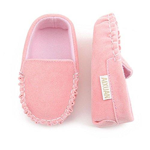 Igemy 1Paar Baby Mädchen Double Velour Soft Sole Schuh Soft Flats Schuhe Rosa