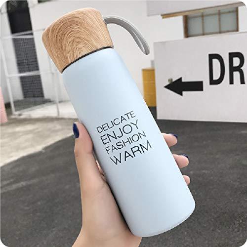 JIAOJIAN 500 ml kreative männliche und weibliche Studenten verbinden Harajuku frische Isolationswasserflasche mit Seilabdeckungsdesign Blau 500ml
