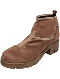 Catwalk Brown Suede Boots For Women's
