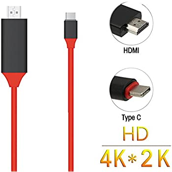 YCTC USB 3.1/Type C//Thunderbolt 3/to HDMI Adapter Cable for New Apple Mac//Chromebook//Dell//Samsung//LG//Lenovo//HP//Acer//Asus//Surface portatili Smartphone