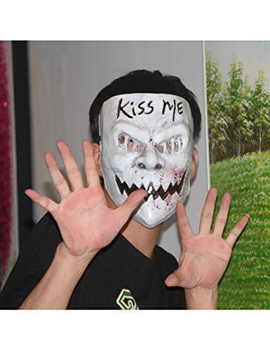ZLJRR Kiss Me Purge Mask Kostüm Horror Scary Halloween Bloody PVC Erwachsene Partei Wahl Masken Männlich Weiblich - Weibliche Kiss Kostüm