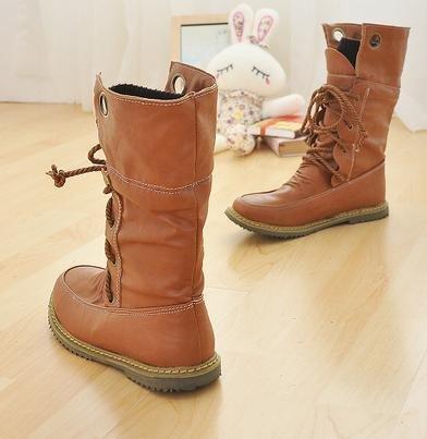 &ZHOU Bottes d'automne et d'hiver Bottes courtes pour femmes adultes Martin bottes bottes Chevalier A4-1 Yellow