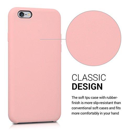 kwmobile ÉTUI EN TPU silicone pour Apple iPhone 6 / 6S Design aluminium brossé anthracite transparent. Étui design très stylé en TPU souple de qualité supérieure or rosé mat