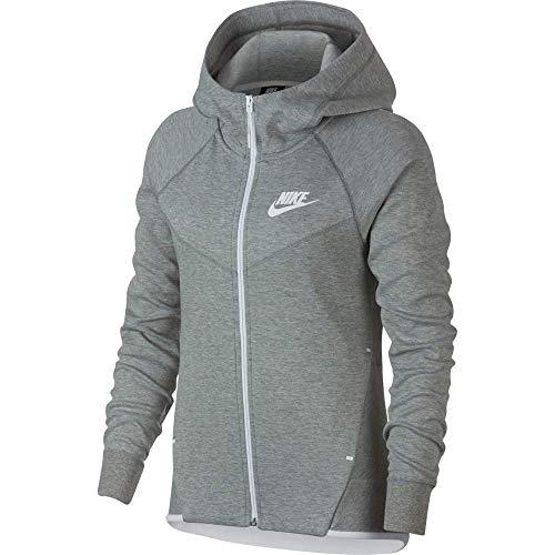 Nike Damen Pullover Sportswear Tech Fleece, Schwarz Black/White 011, X-Small