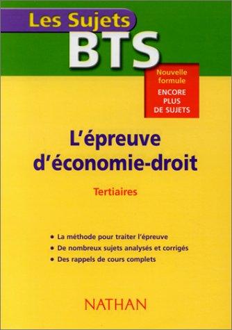 L'Epreuve d' économie - Droit