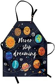 Orange Venue Uzay Mutfak Önlüğü, Asla Vazgeçme, Yemek ve Mangal için Ayarlanabilir Askılı Unisex Önlük, Yetişk