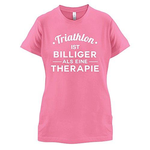 Triathlon ist billiger als eine Therapie - Damen T-Shirt - 14 Farben Azalee
