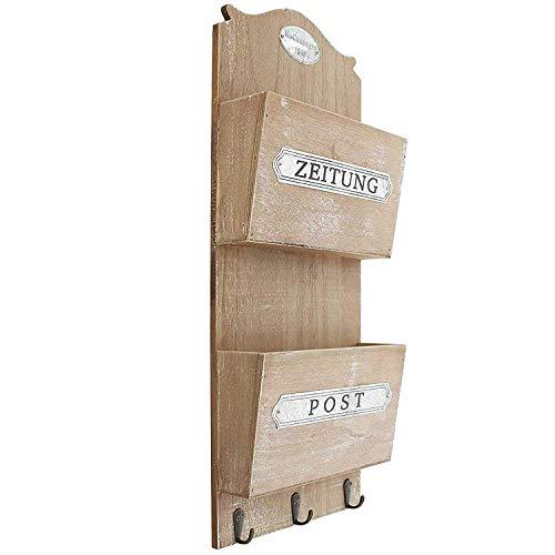 SIDCO Wandregal Board Holz Zeitung Post Zeitungshalter Wand Organizer Schüsselbrett - Post Zeitung