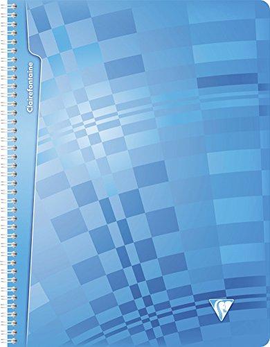 Clairefontaine 208361C - Lote de 5 Cuadernos Polipropileno con espirales A4 MAXI rayado francés (Séyès) de 180 páginas, colores surtidos