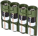 PowerPax 4 AA Battery Caddy - Military Green