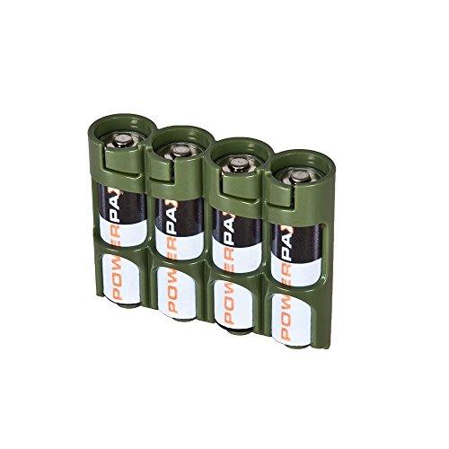 Powerpax 4AA Batterie Caddy-Military Grün