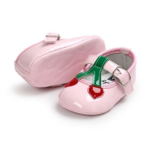RVROVIC , Baby Mädchen Lauflernschuhe Rose