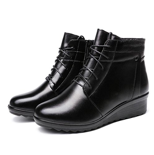 45 42 KHSKX-Ma Mère Chaussures Coton Plus D'Hiver Chaud Mère Antidérapant Chaussures Coton Snow Shoe 5Cm Et 37 Femme Chaussures Coton gris 41 QIN&X Fond épais pour femmes Chaussures Bottillons courts iNLuqT