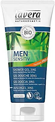 Lavera douchegel 3 in 1 Men Sensitive • Guarana Bio en bamboe Bio • Vegan • Cosmetica Natuurlijke • Plantenwer