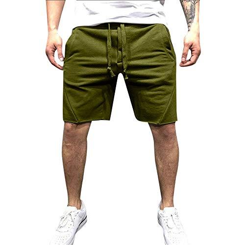 Beonzale Sommer Mode Beiläufiger Sport Der Art- und Weisemänner Der Elastische Taillen-Hosen-Hosen Rüttelt Lose Fit Shorts Hose -