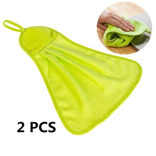 DC CLOUD Tuch Abwischen Reinigungstuch Wischtücher Waschbares Doppelseitige Sponge-scheuerschwämme Für Geschirrtuch Reinigungstuch Reinigungstücher Spültuch Green