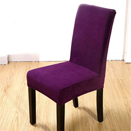 Dekoration Stuhl-Abdeckung Stretch-Stuhlbezug elastische moderne Husse Esszimmer Hochzeit Bankett (1)