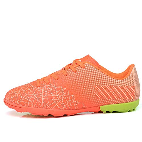 Scarpe da Calcio da Uomo Sneakers Scarpe da Calcio Indoor Scarpe da Calcio Alte alla Caviglia Tacchetti 5 Arancione
