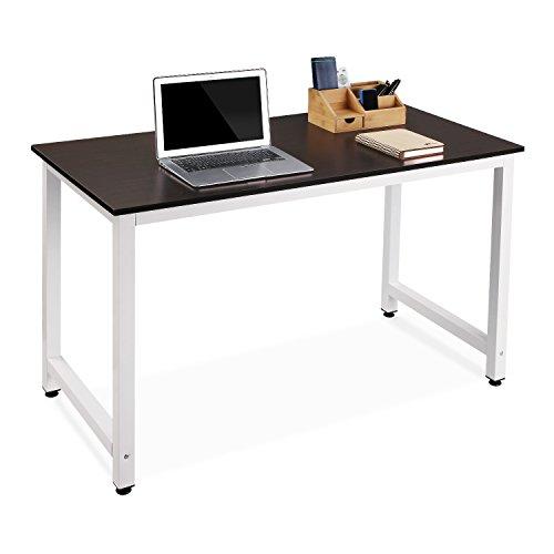 Homfa Scrivania Studio Ufficio Tavolo di Computer in Legno 120 × 60 ...