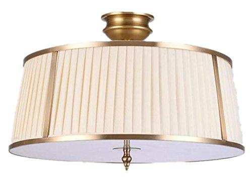 Orientalische Decken-ventilatoren (Klassische Laternen-Art-Messing-freie Decken-heller Schatten-einfacher zusammenpassender Durchmesser 50cm)