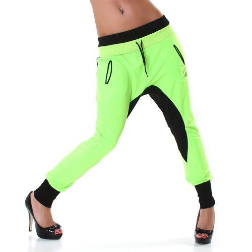Jela Londra donne pantaloni harem Sport Tempo Jogger Pant Pantaloni sportivi S, M, L Neon verde-nero