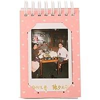 Woodmin Fujifilm Instax Album di Foto per Instax Mini / Pringo P231 / SP 1 / Polaroid PIC-300P / Polaroid Z2300 Film (rosa)