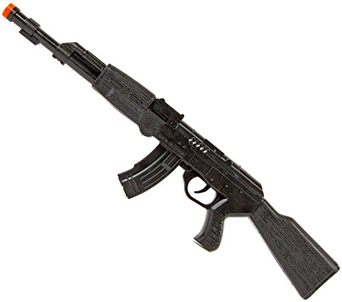 Ratta-Gewehr 42cm Sturmgewehr-47 Spielzeug-Pistole-Waffe Kinder-Kostüm Verkleidung Fasching Karneval Pistole Maschinengewehr Soldat SWAT (Kinder Spielzeug Soldaten Kostüme)