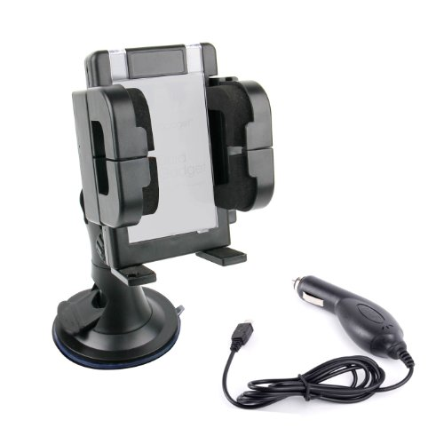 DURAGADGET Multifunktionsgerät für Ihr Auto: Halterung und PKW-Netzteil (Micro USB) für LG P700 Optimus L7 Smartphone
