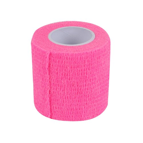 2-TECH Pinke kohäsive, elastische selbsthaftende Bandage Haftbandage Fixierbinde Flex Wrap Tape 5cm x 450cm