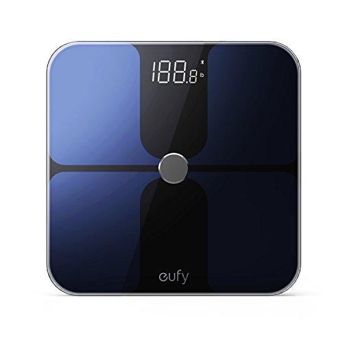 Preisvergleich Produktbild Eufy Smart Personenwaage mit Bluetooth 4.0, Bluetooth Digitale Körperwaage mit großem LED Display, Gewicht/ Körperfettanteil / BMI / Fitness und Körperanalyse, kg / lb / st Einheit