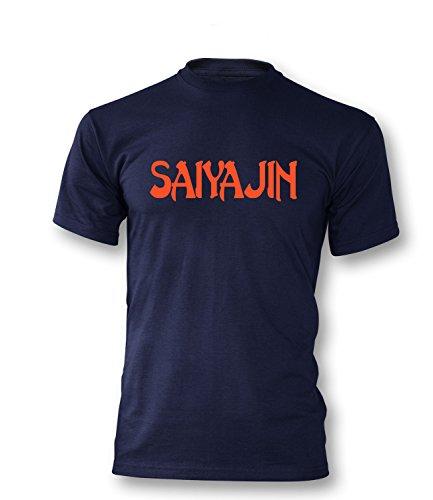 Saiyajin Herren T-Shirt Navy/Orange