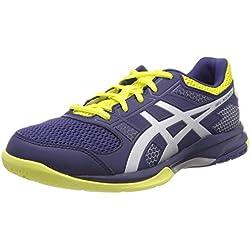 Asics Gel-Rocket 8, Zapatos de Voleibol para Hombre, Azul (Indigo Blue/Silver 426), 41.5 EU