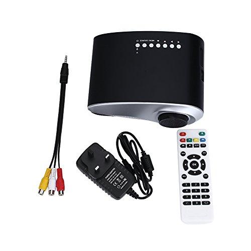 Mini Projector Portable LED 720P HD Home Theater Projectors with USB HDMI VGA AV TV SD  UK plug