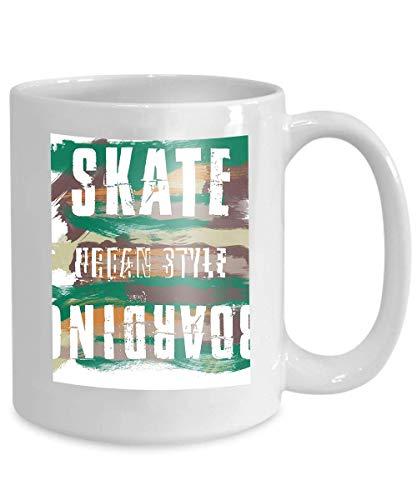 mug coffee tea cup skateboarding city art street graphic style sk fashion stylish print template apparel card label poster emblem stamp 110z