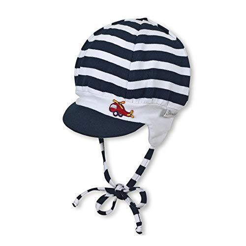 Sterntaler Schirmmütze für Jungen mit Bindebändern und Ohrenklappen, Alter: 18-24 Monate, Größe: 51, Blau (Marine)